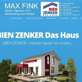 Max Fink Bauberatung und Verkauf neue Homepage